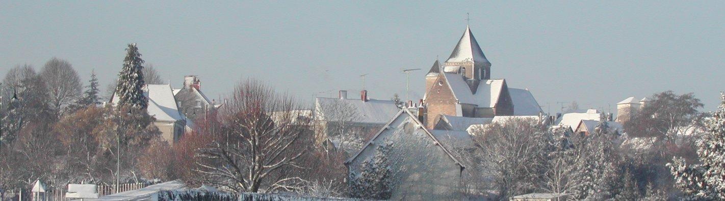 charnizay sous la neige